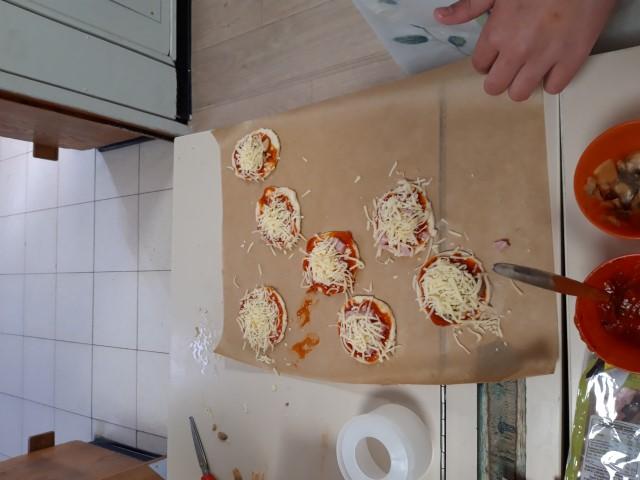 Gebroken pizza's of gebakken breuken