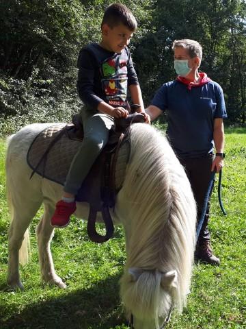 Ervaar B op de pony